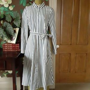 FELICITY & COCO Rachel Striped Shirt Dress